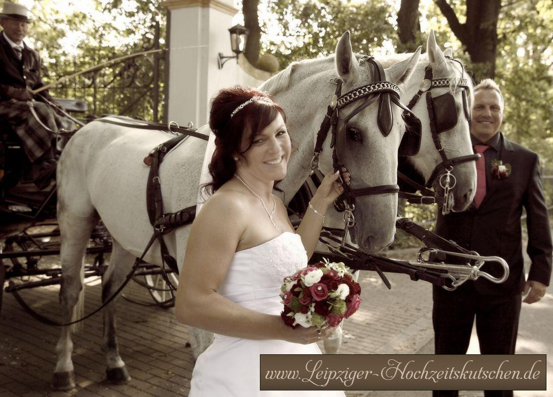 Klassische Pferdekutsche zur Hochzeit in Weißenfels mieten